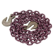 "Tie Down Chain Assembly 1/2"" x 25' w/ Clevis Grab Hooks - Grade 100"