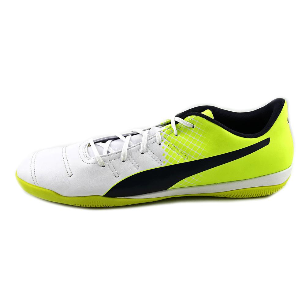 Puma Men's Evopower 4.3 It Safety Yellow / Black Atomic Blue Ankle-High Soccer Shoe - 11.5M