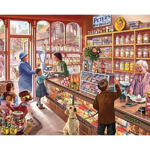 White Mountain Old Candy Store Jigsaw Puzzle