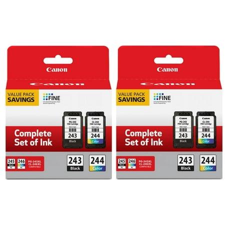 Canon PG-243BK Black & CL-244 Color Inkjet Print Cartridge (1287C006) 2 Pieces Colour Inkjet Print