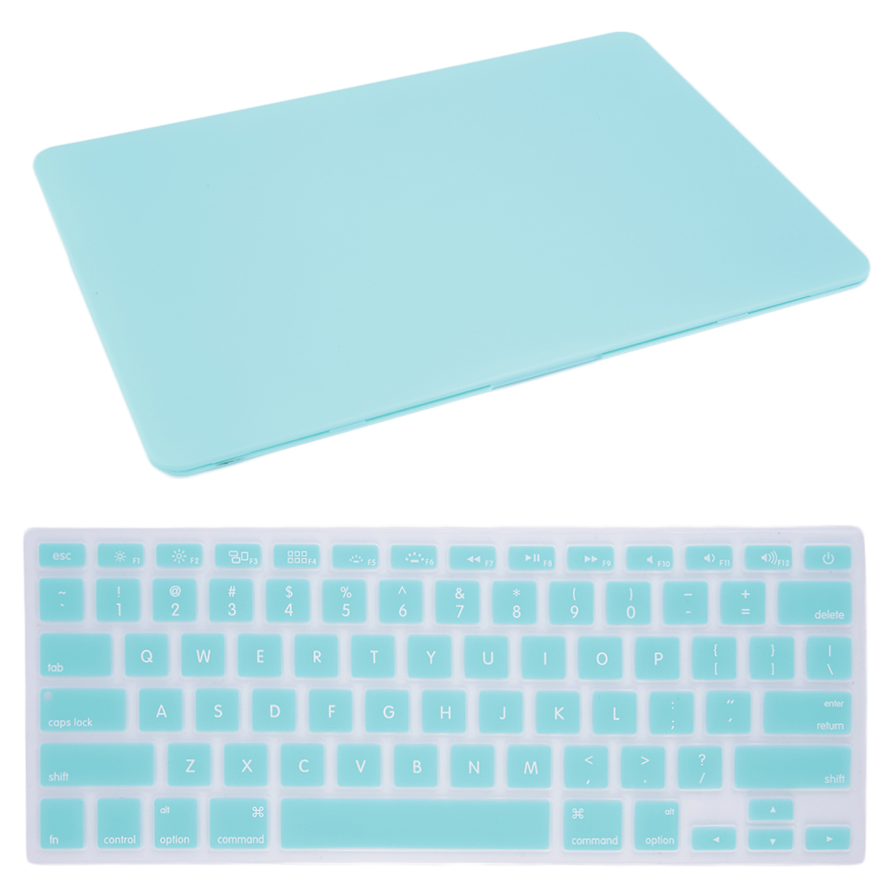 New Blue New Durable Hard Rubberized Case + Keyboard Cover For MacBook Air 13""