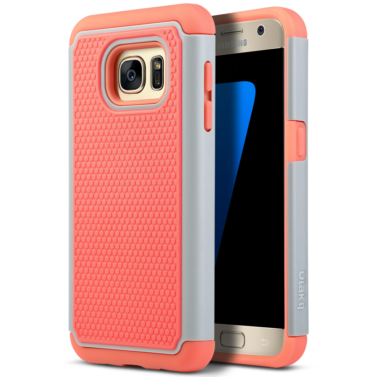 Galaxy S7 Case, ULAK Hybrid Slim Dual Layer Protective Case Cover with Soft Silicone and Hard PC for Samsung Galaxy S7 2016 Release