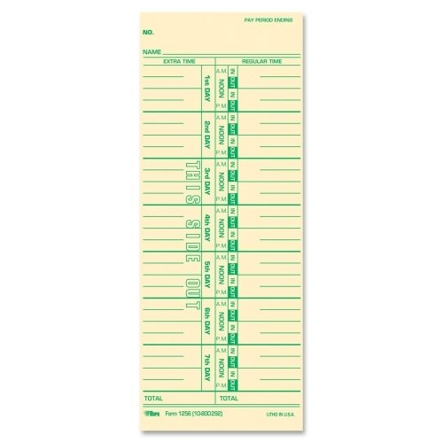 TOPS BUSINESS FORMS                                Time Cards