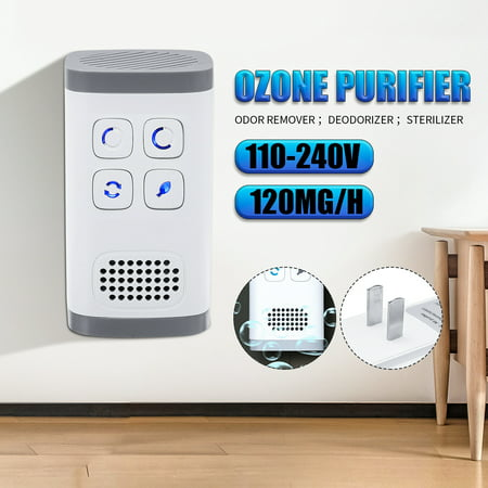 ASEWUN 120mg/h Plug-In AirPurifier AirCleaner Mini Ozone Generator Negative Ion Generator for Odors Eliminating Travelling Outdoor Room Pets - image 9 de 9