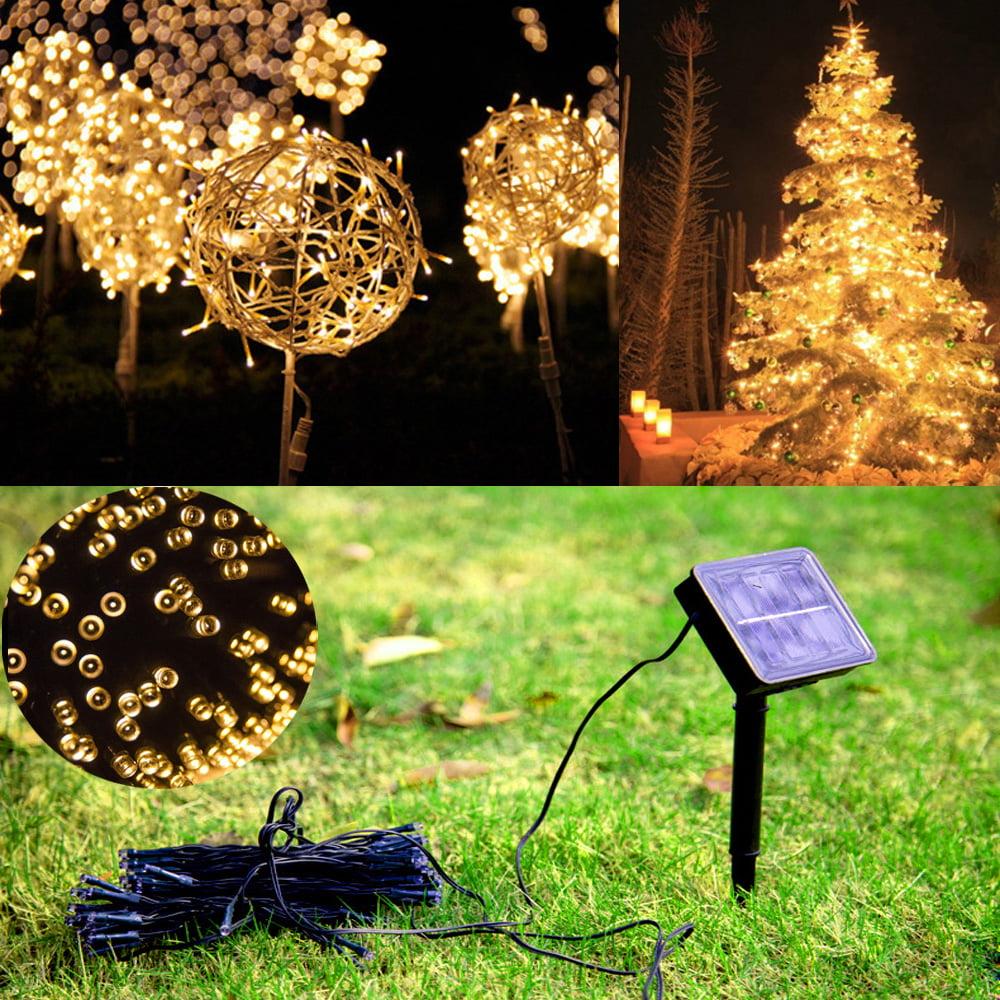 Ktaxon Fairy Solar String Lights, 60 /100 /200 LED Outdoor Waterproof Light for Garden, Patio, Wedding ,Backyard, Party
