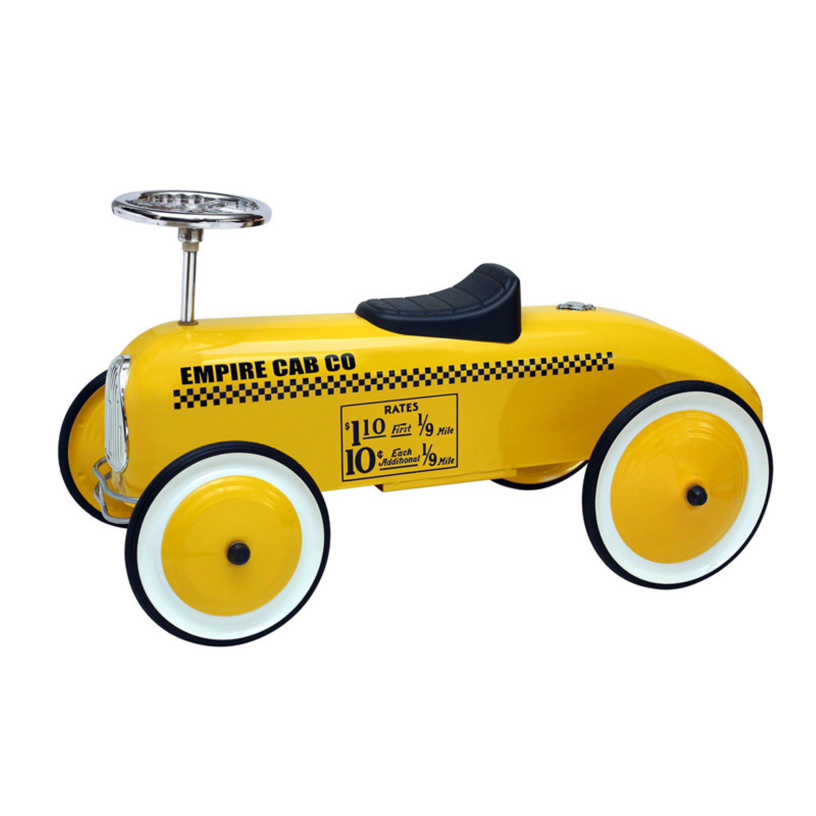Morgan Cycle Taxi Cab Ride-On Riding Push Toy