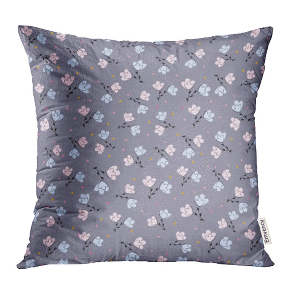 ARHOME Blue Cute Small Flowers Pink Blossom Flora Floral Garden Little Nature Romantic Pillowcase Cushion Cases 16x16 inch