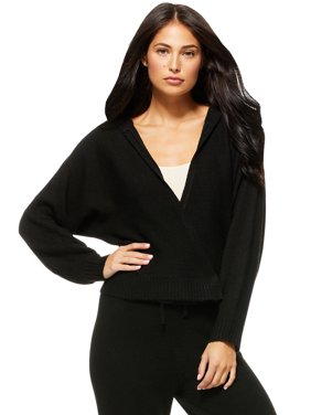 Sofia Jeans by Sofia Vergara Womens Cardigan Sweater with Hood