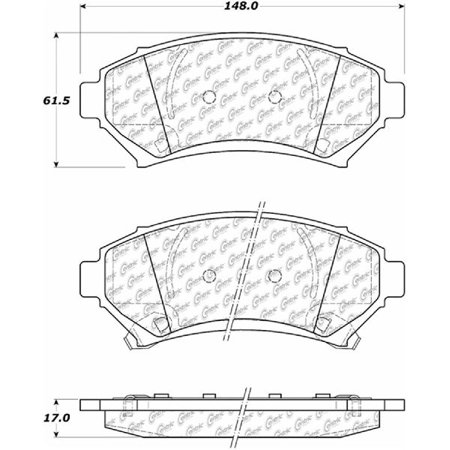 Go-Parts OE Replacement for 1997-2004 Buick Regal Front Disc Brake Pad Set for Buick Regal (Base / SLE)