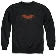 Dark Knight Rises Distressed Bat Mens Crewneck Sweatshirt