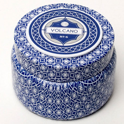 Aspen Bay Capri Blue Volcano Printed Tin Candle - 9 Oz. MID3971