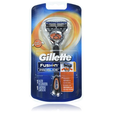 Gillette Fusion ProGlide Men's Razor with Flexball Handle Technology + 1 Razor Blade Refill ( 8 Packs