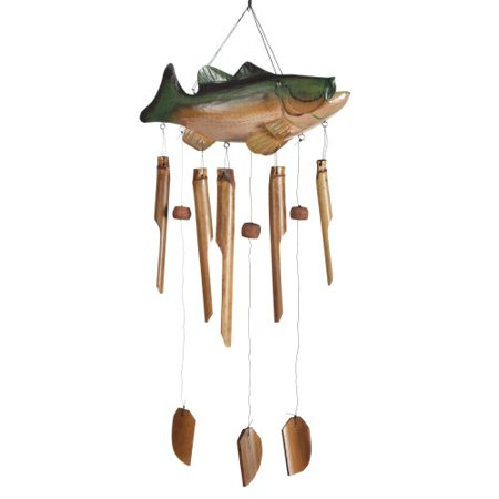 Woodstock asli arts 35 5 inch bass fish wind chime for Fish wind chimes