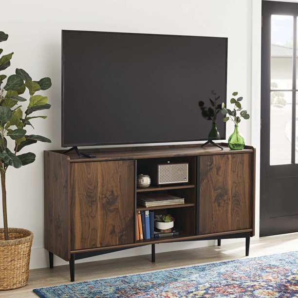 "Better Homes & Gardens Montclair TV Storage Console for TVs up to 65"", Vintage Walnut Finish"