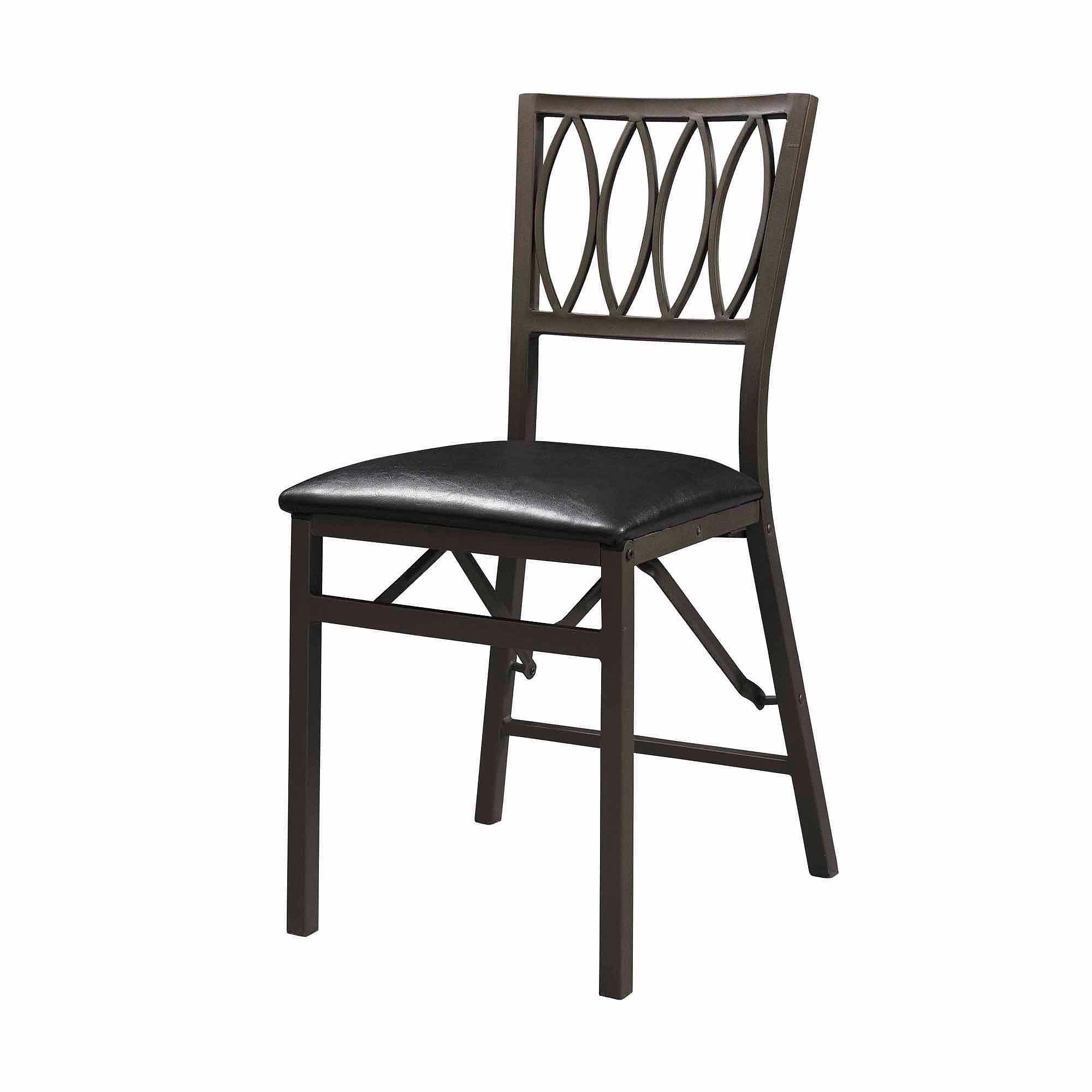 SEI Arista Oval Design Folding Set of 2 Chairs