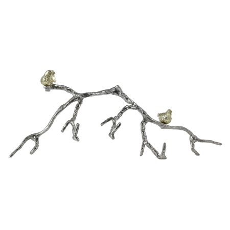 A and B Home Twig with Gold Birds Wall Accent