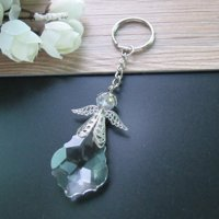 12 PCS Angel Key Chains Crystal Party Favor Baptism, First Communion, Confirmation, Party Pack JK318S