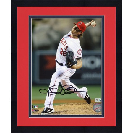 """Framed Jered Weaver Los Angeles Angels of Anaheim Autographed 8"""" x 10"""" No Hitter Photograph by"""
