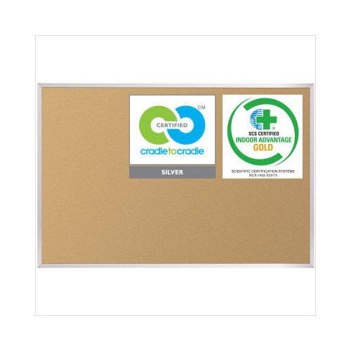 Best-Rite VT Logic Cork Board with Aluminum Trim