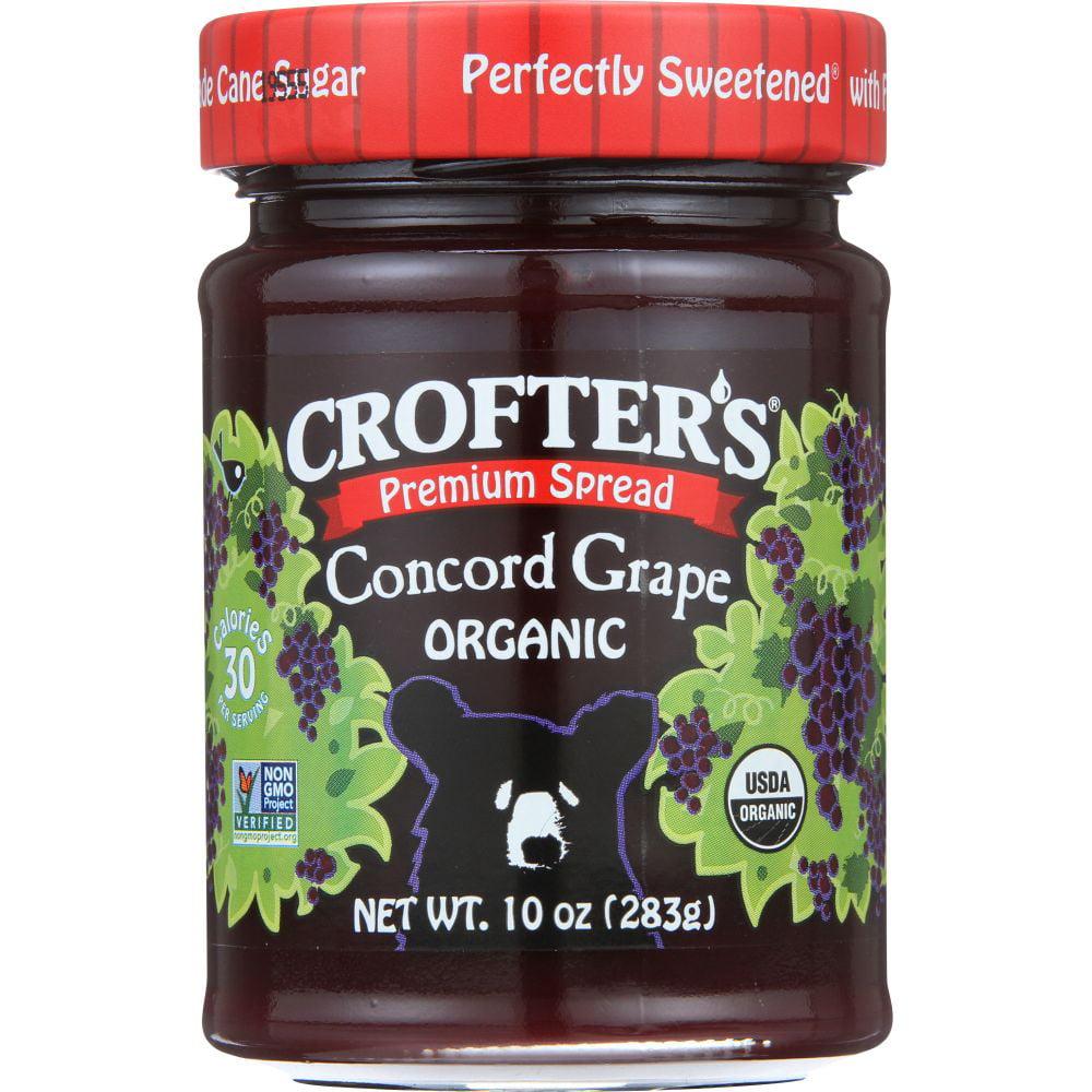 Crofter's Organic Spread, Concord Grape, 10 Oz (Pack Of 6)