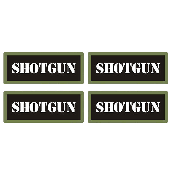 "Shotgun Ammo Can 4 Pack 3"" Black Sticker Gun Ammunition Box Case Decal"