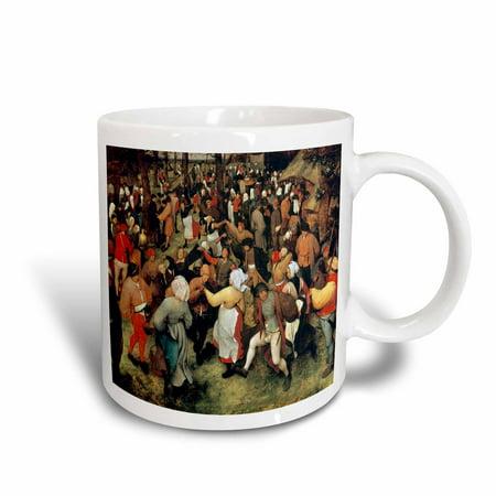 3dRose The Wedding Dance, 1566 by Pieter Bruegel the Elder Guest Dancing, Ceramic Mug, (The Wedding Dance Pieter Bruegel The Elder)