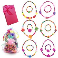 f6a463fd1 Product Image Elesa Miracle Little Girl Party Favor Princess Necklace &  Bracelet Jewelry Value Set.