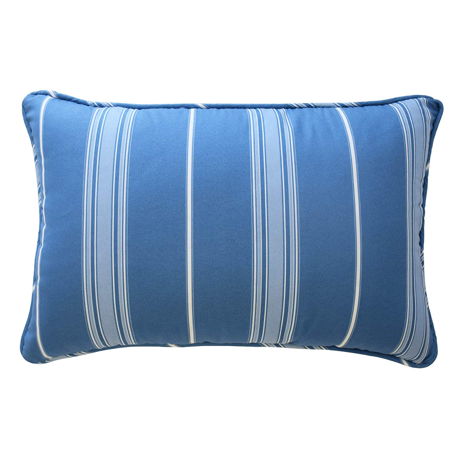 Kids 16448012X018AQU Ride The Wave 12-Inch by 18-Inch Striped Decorative Accessory Pillow, Aqua, 100% Polyester By WAVERLY