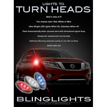 New Nissan Pathfinder LED Side Markers Turnsignal Lights Accent Turn Signalers Lamps Kit ()