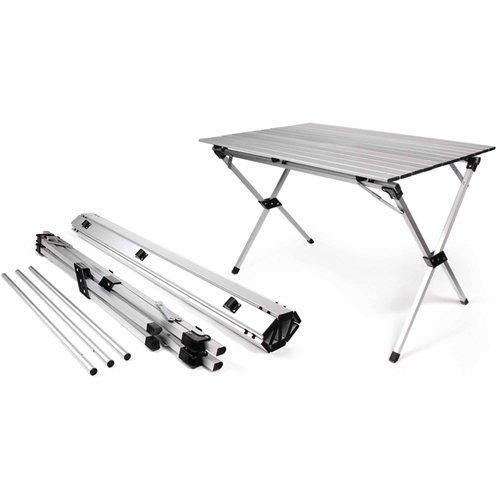 Camco 51892 Aluminum Roll Up Table With Carrying Bag For RV, Campsite, Patio