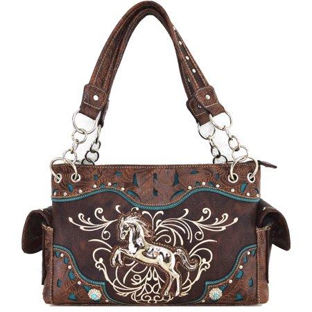 Horse Bag (Silvertone Bag Western Horse Equestrian Handbag)