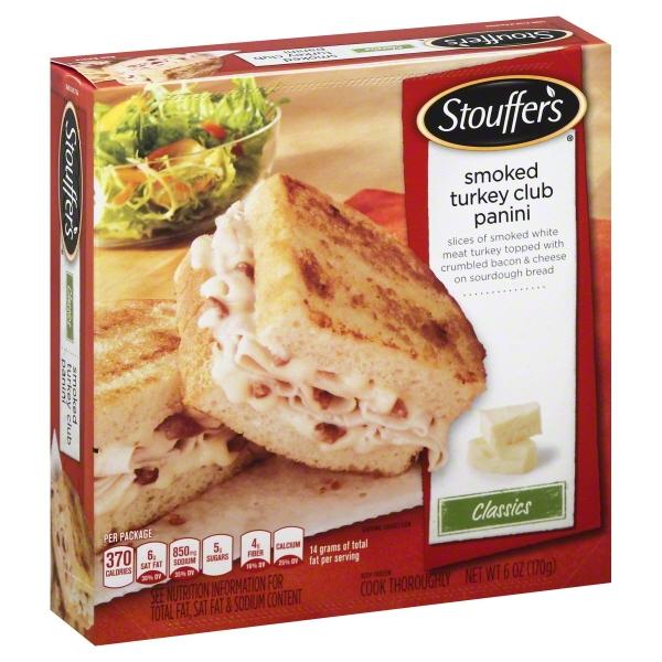 Stouffer's Classics Smoked Turkey Club Panini, 6 oz
