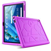 Poetic TurtleSkin Series [Corner/Bumper Protection][Grip][[Bottom Air Vents] Protective Silicone Case for Lenovo Moto Tab (X704A)/Lenovo Tab 4 10 Plus Tablet - Purple