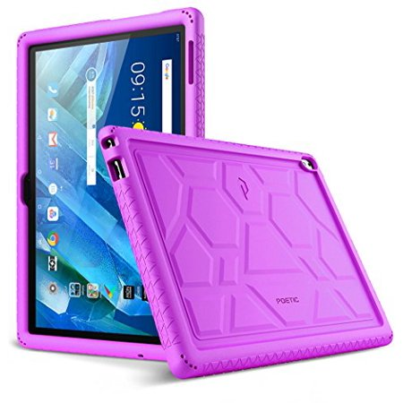 Poetic TurtleSkin Series [Corner/Bumper Protection][Grip][[Bottom Air Vents] Protective Silicone Case for Lenovo Moto Tab (X704A)/Lenovo Tab 4 10 Plus Tablet - (Shuffle Protective Silicone Case)