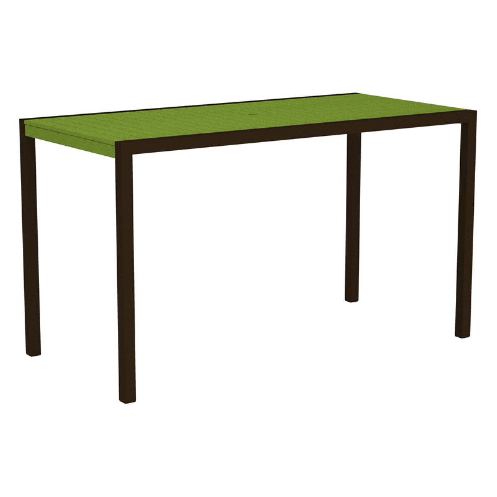 POLYWOOD MOD 36 x 73 in. Pub Table with Aluminum Frame by Polywood