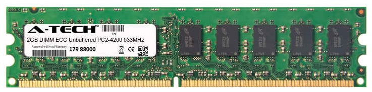2GB Module PC2-4200 533MHz ECC Unbuffered DDR2 DIMM Server 240-pin Memory Ram