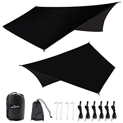 monobeach hammock tarp 11.8 x 9.2 ft outdoor waterproof portable tent shelter lightweight rain