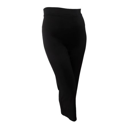 Black Pullman (Kasper Women's Pull-On Wide-Leg Pants (XL, Black))