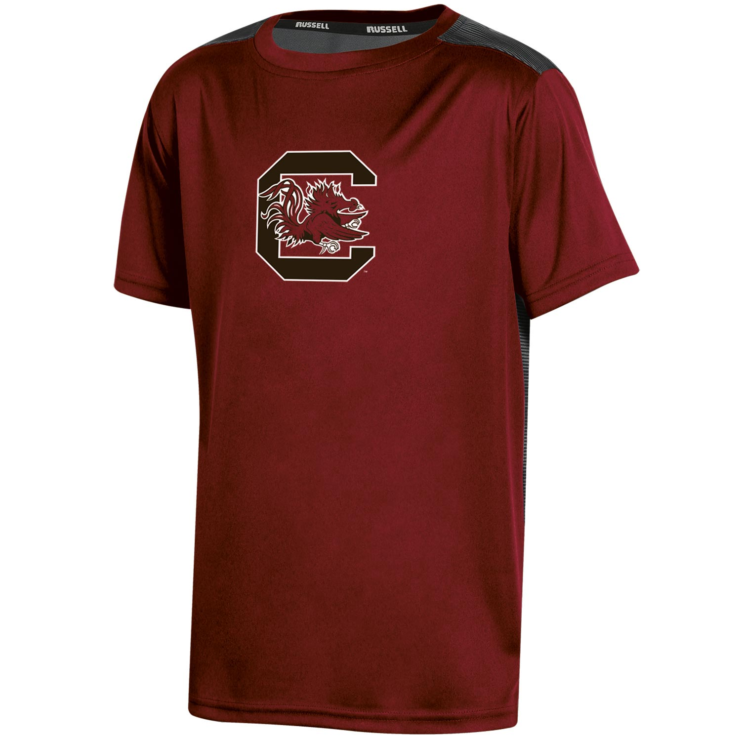 Youth Russell Garnet South Carolina Gamecocks Color Block T-Shirt