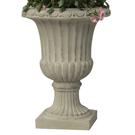 Antique Italian Stone Urn Planter, Green Traditional Stone Planter