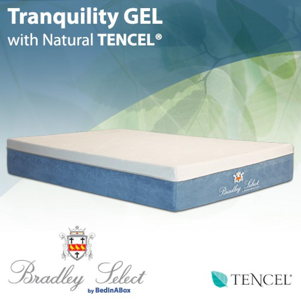 bed in a box tranquility gel w/ natural tencel memory foam