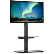 Modern Black TV Floor Stand Metal Mount for 27 to 60 inch TVs, Black
