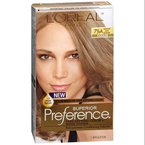 L'Oreal Superior Preference Hair Color [7-1/2A] Medium Ash Blonde (Cooler) 1 Each (Pack of 6)