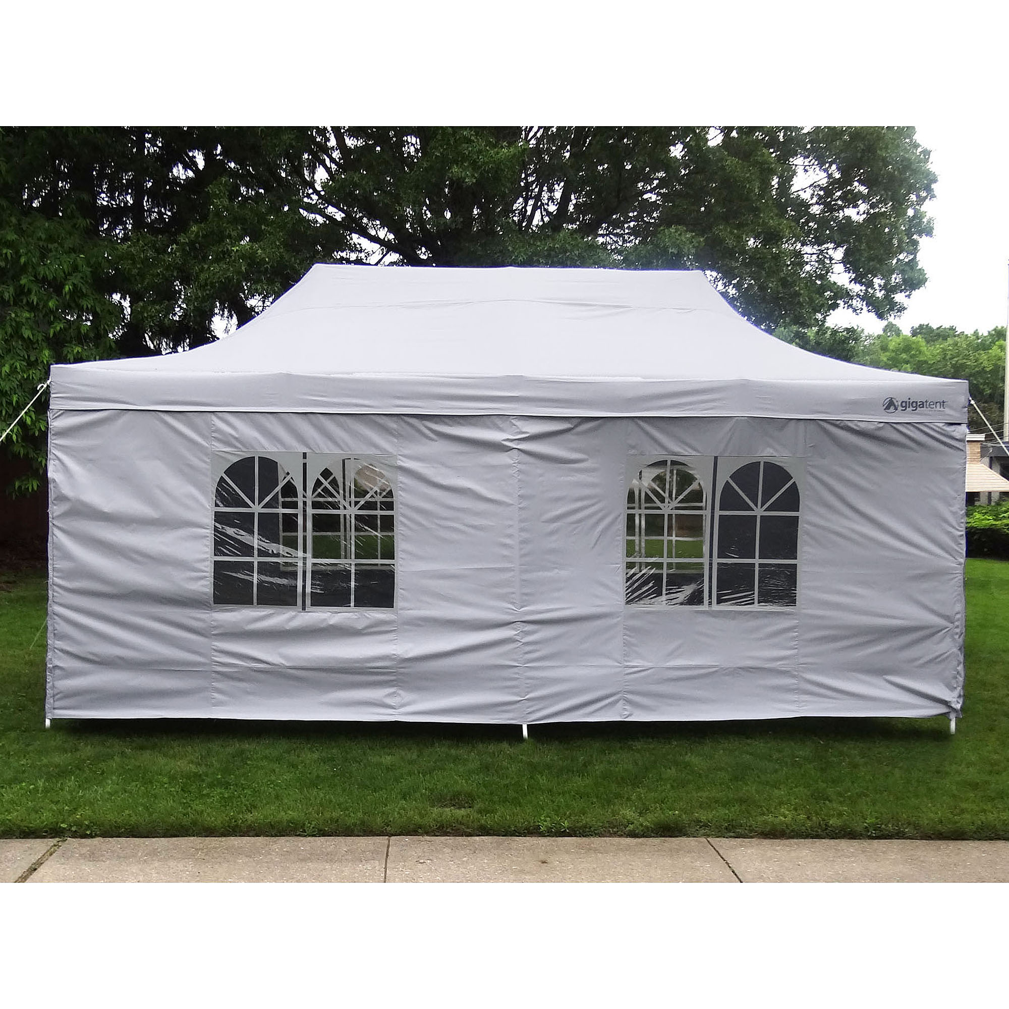 GigaTent The Party Tent Deluxe 10' x 20' Canopy, White