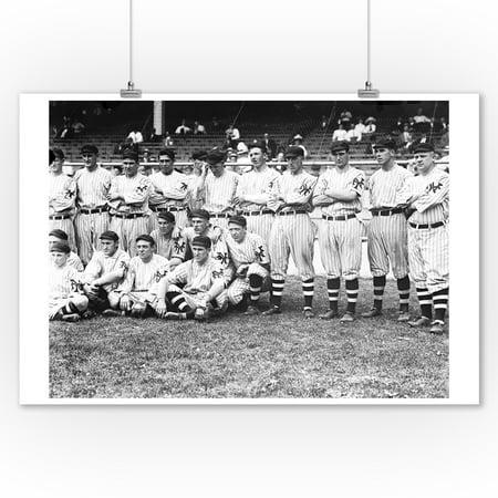 NY Giants Team, Baseball Photo #3 (9x12 Art Print, Wall Decor Travel Poster)](Ny Giants Room Decor)