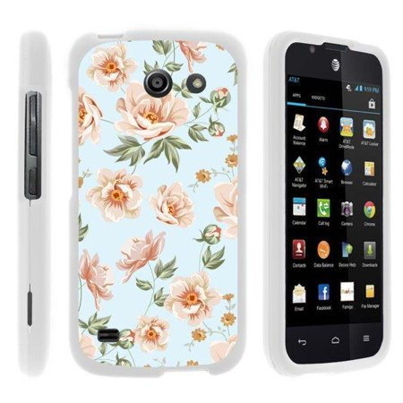 TurtleArmor ® | For Huawei Tribute Y536A1 | AT&T Fusion 3 [Slim Duo] Two Piece Hard Cover Slim Snap On Case - Flower 3