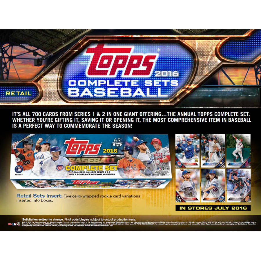 2016 Topps Baseball Stamp Card Complete Set