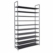 10 Tier Shoe Rack 50 Pairs Shoe Organizer Shoes Storage Shoe Shelf Shoe Tower - No Tools Required Non-Woven Fabric for Home Bedroom
