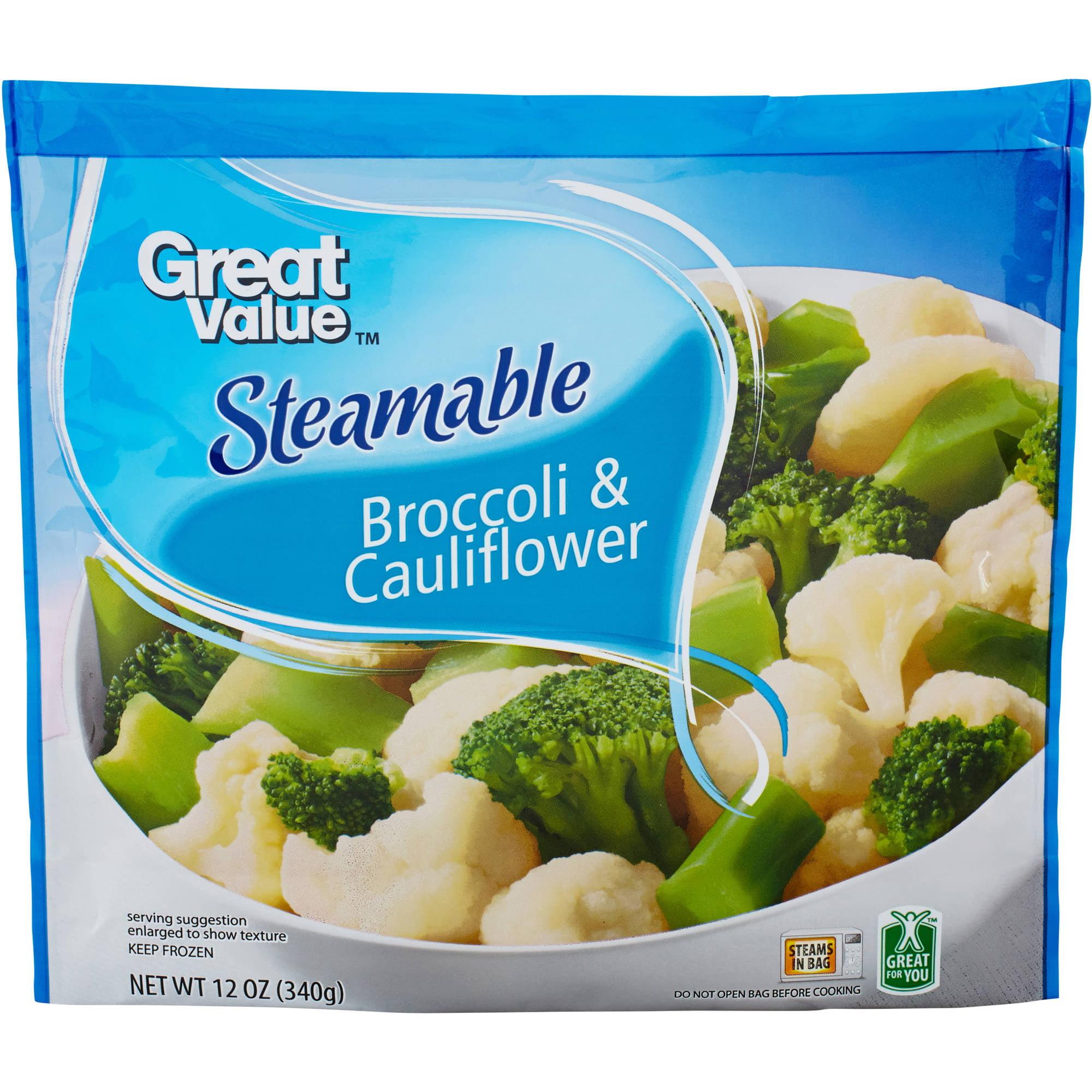 Great Value: Steamable Broccoli & Cauliflower, 12 Oz