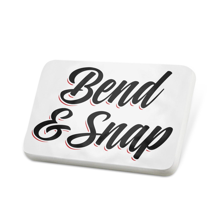 Porcelein Pin Vintage Lettering Bend & Snap Lapel Badge – NEONBLOND